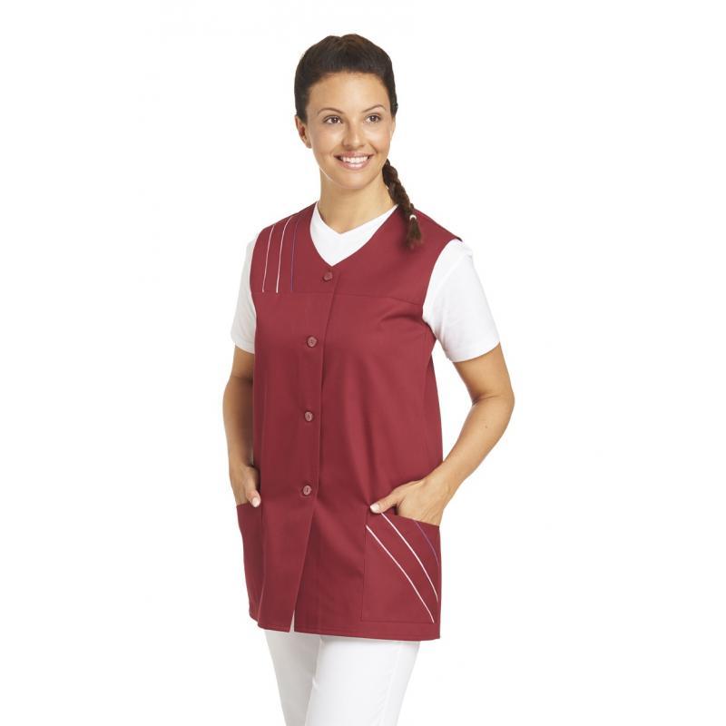 Kasack ohne Arm 553 von LEIBER / Farbe: bordeaux / 65 % Polyester 35 % Baumwolle - | MEIN-KASACK.de
