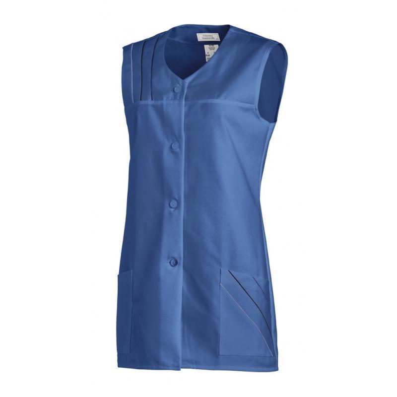 Kasack ohne Arm 553 von LEIBER / Farbe: blau / 65 % Polyester 35 % Baumwolle -   Wenn Kasack - Dann MEIN-KASACK.de   Kas