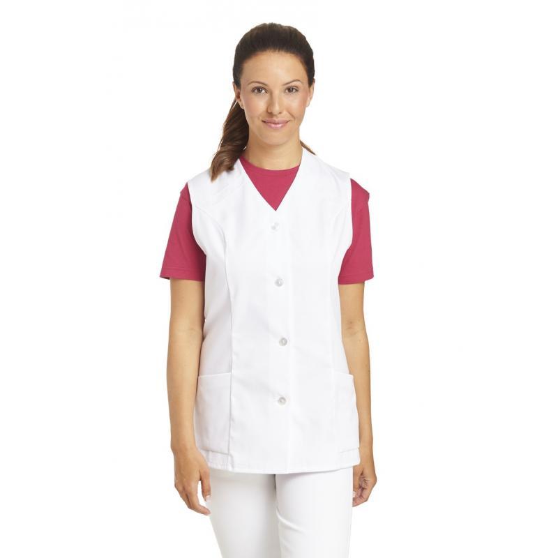 Kasack ohne Arm 843 von LEIBER / Farbe: weiß / 65 % Polyester 35 % Baumwolle - | Wenn Kasack - Dann MEIN-KASACK.de | Kas