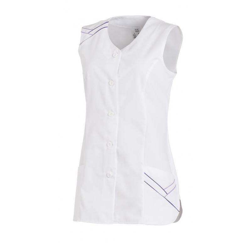 Damen -  Kasack ohne Arm 1247 von LEIBER / Farbe: weiß / 65 % Polyester 35 % Baumwolle - | MEIN-KASACK.de | kasack | kas