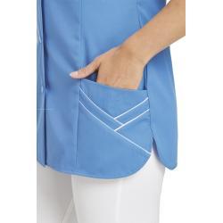 Kasack ohne Arm 1247 von LEIBER / Farbe: blau / 65 % Polyester 35 % Baumwolle - | Wenn Kasack - Dann MEIN-KASACK.de | Ka