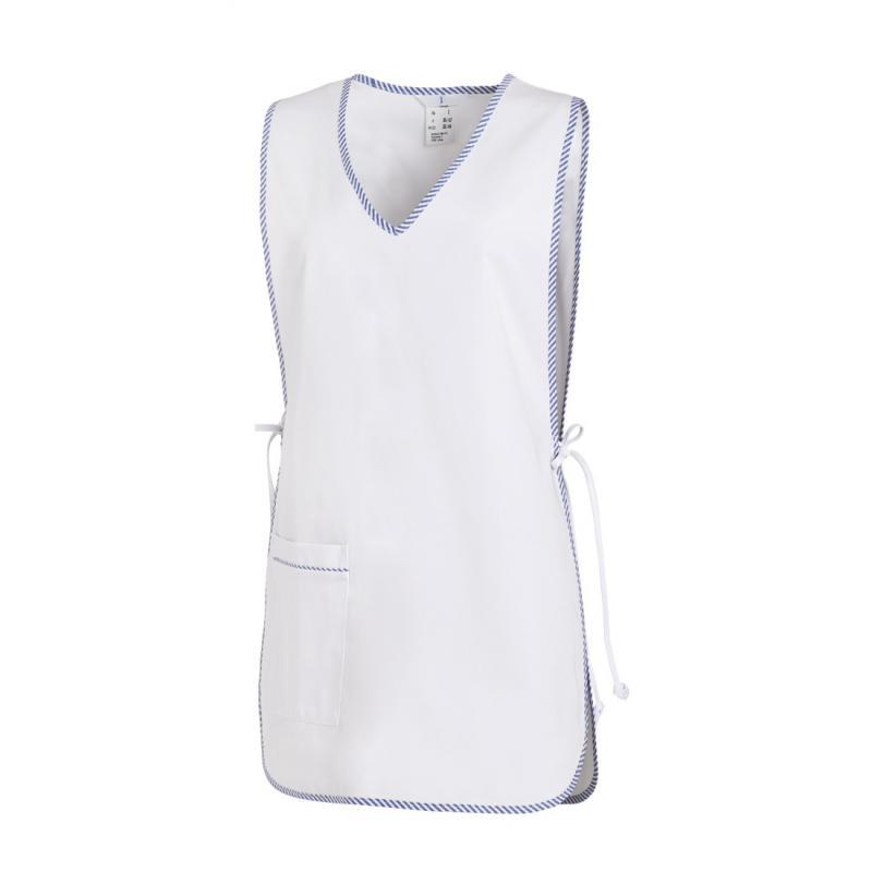 Damen -  Überwurfschürze 594 von LEIBER / Farbe: weiß / 65 % Polyester 35 % Baumwolle - | MEIN-KASACK.de