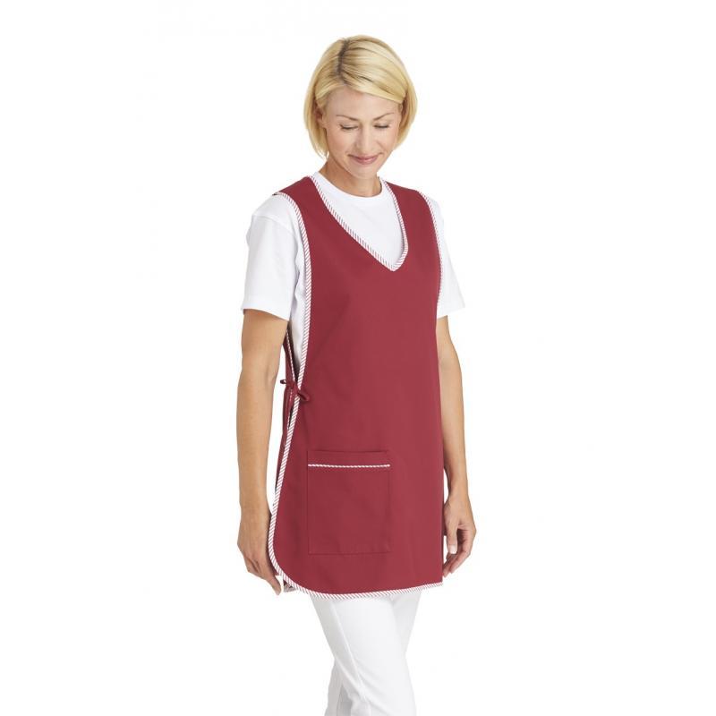 Damen -  Überwurfschürze 594 von LEIBER / Farbe: bordeaux / 65 % Polyester 35 % Baumwolle - | MEIN-KASACK.de