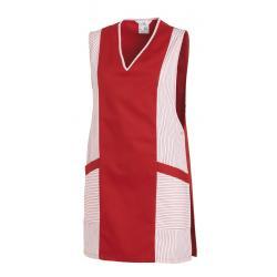 Überwurfschürze / Chasuble 264 von LEIBER / Farbe: weiß-rot / 65 % Polyester 35 % Baumwolle - | MEIN-KASACK.de | kasack