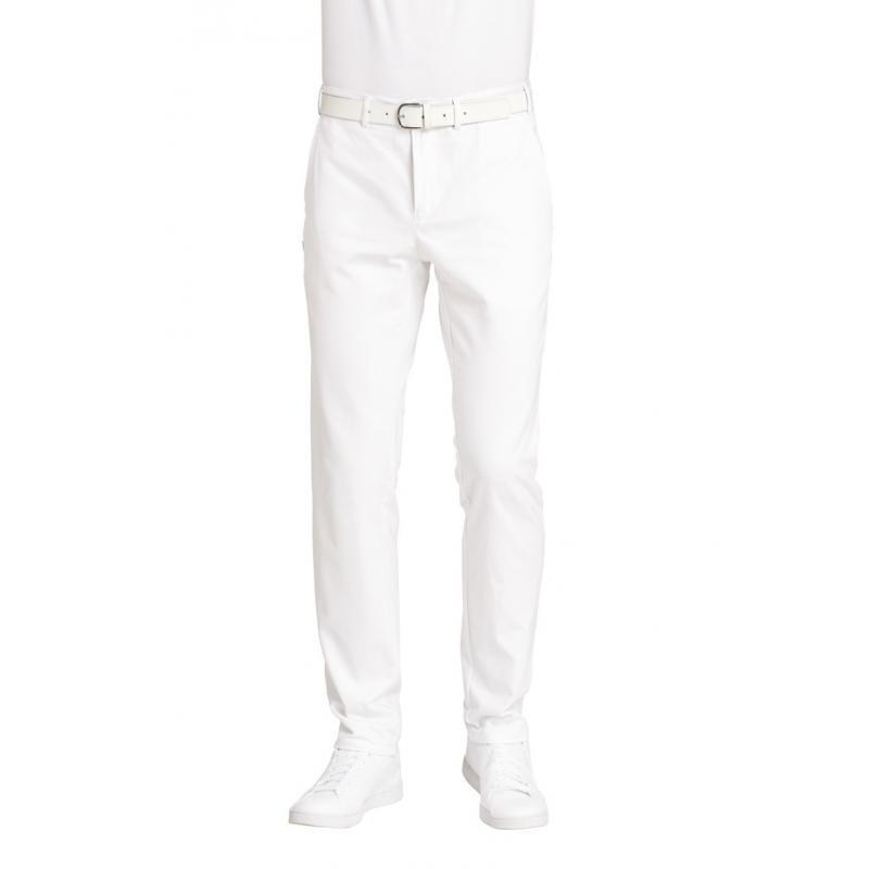 Herrenhose 7070 von LEIBER / Farbe: weiß / 100 % Baumwolle-Satin - | Wenn Kasack - Dann MEIN-KASACK.de | Kasacks für die