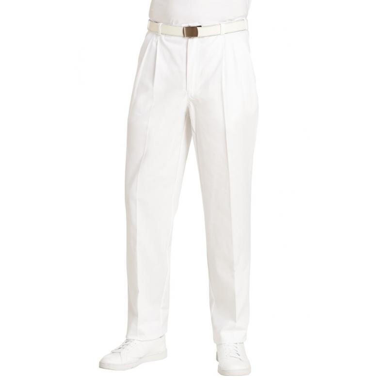 Bundfaltenhose (Herren) 1410 von LEIBER / Farbe: weiß / 100 % Baumwolle Feinköper - | Wenn Kasack - Dann MEIN-KASACK.de