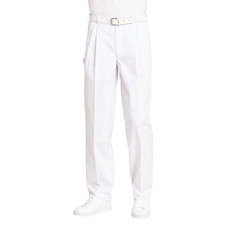 Bundfaltenhose (Herren) 8230 von LEIBER / Farbe: weiß / 65 % Polyester 35 % Baumwolle - | Wenn Kasack - Dann MEIN-KASACK