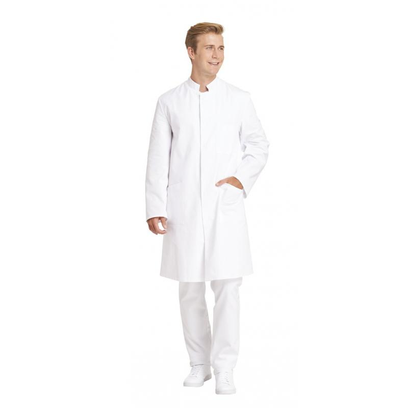 Herrenmantel 797 von LEIBER / Farbe:weiß / 100 % Baumwolle - | Wenn Kasack - Dann MEIN-KASACK.de | Kasacks für die Alten