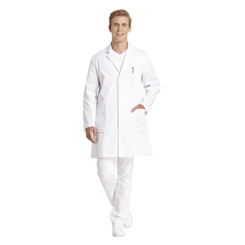 Herrenmantel 492 von LEIBER / Farbe: weiß / 65 % Polyester 35 % Baumwoll - | Wenn Kasack - Dann MEIN-KASACK.de | Kasacks