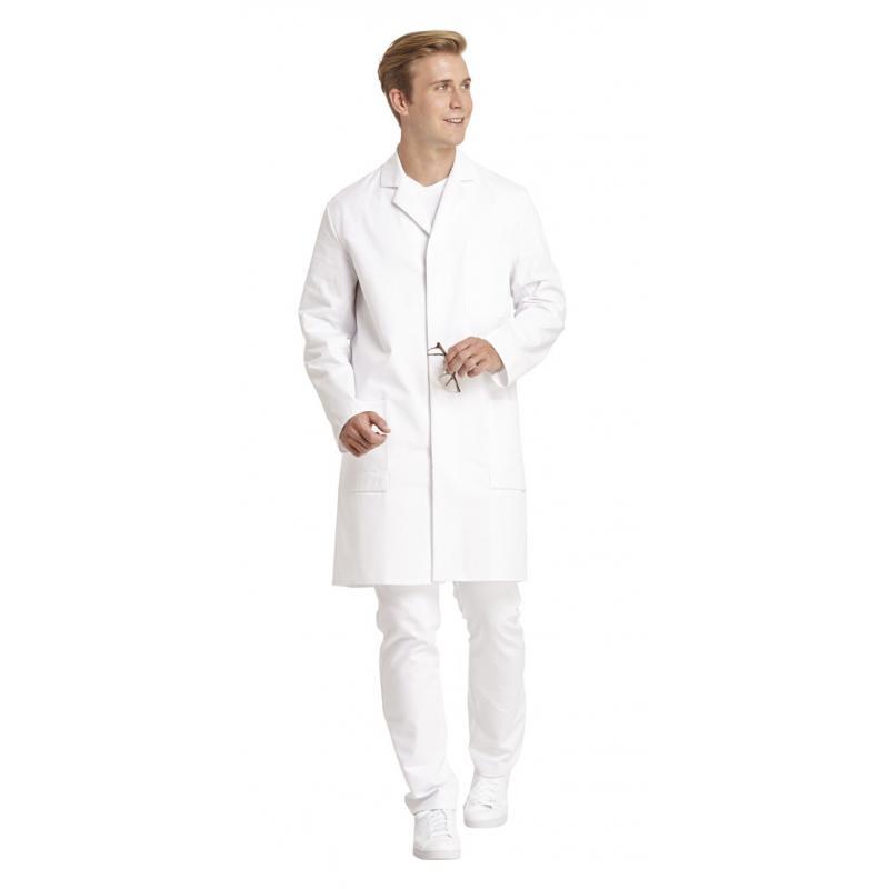 Herrenmantel 181 von LEIBER / Farbe: weiß / 100 % Baumwolle Feinköper - | Wenn Kasack - Dann MEIN-KASACK.de | Kasacks fü