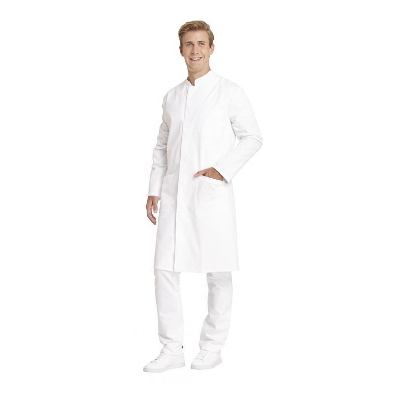 Herrenmantel 9930 von LEIBER / Farbe: weiß / 100 % Baumwolle Feinköper - | Wenn Kasack - Dann MEIN-KASACK.de | Kasacks f