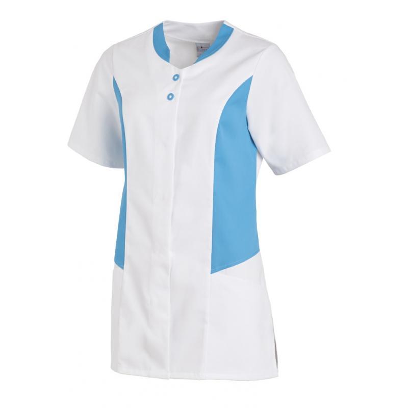 Hosenkasack 25070 von LEIBER / Farbe: weiß-türkis / 50 % Polyester 50 % Baumwolle - | Wenn Kasack - Dann MEIN-KASACK.de