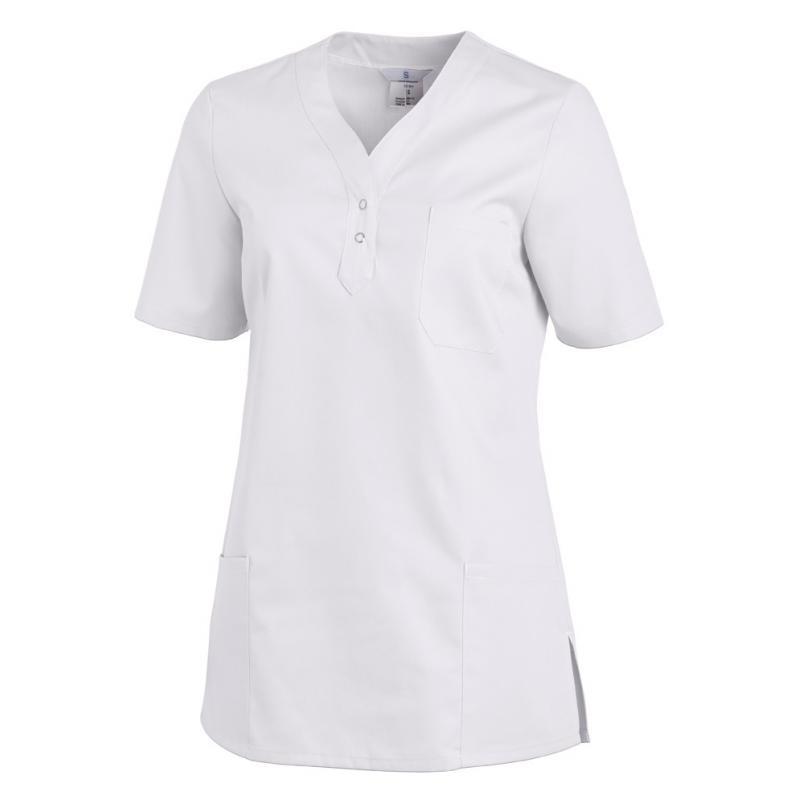 Schlupfjacke 1254 von LEIBER / Farbe: weiß / 65% Polyester 35% Baumwolle - | Wenn Kasack - Dann MEIN-KASACK.de | Kasacks