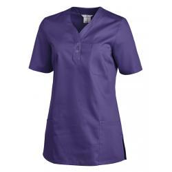 Schlupfjacke 1254 von LEIBER / Farbe: lila / 65% Polyester 35% Baumwolle - | Wenn Kasack - Dann MEIN-KASACK.de | Kasacks