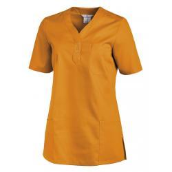 Schlupfjacke 1254 von LEIBER / Farbe: sun (orange) / 65% Polyester 35% Baumwolle - | Wenn Kasack - Dann MEIN-KASACK.de |