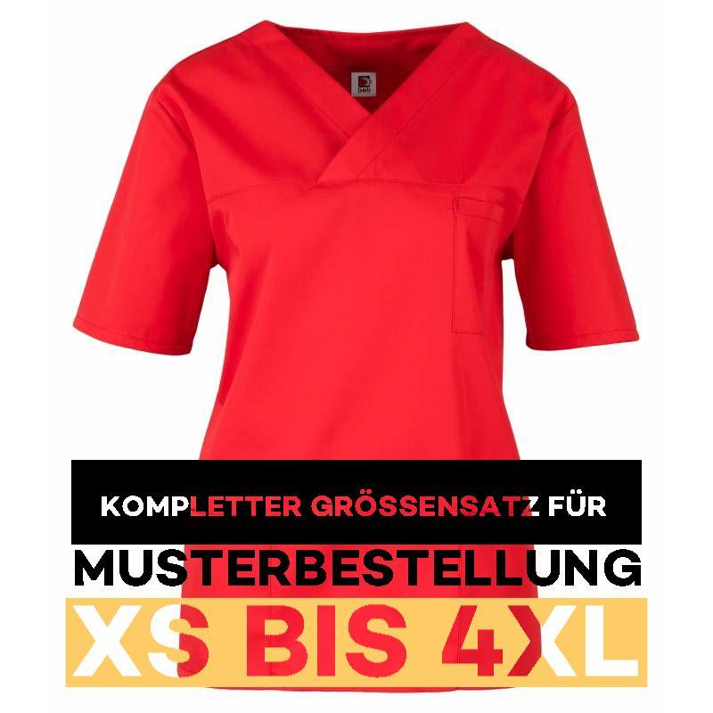 Kompletter Grössensatz - 2651 rot - MEIN-KASACK.de