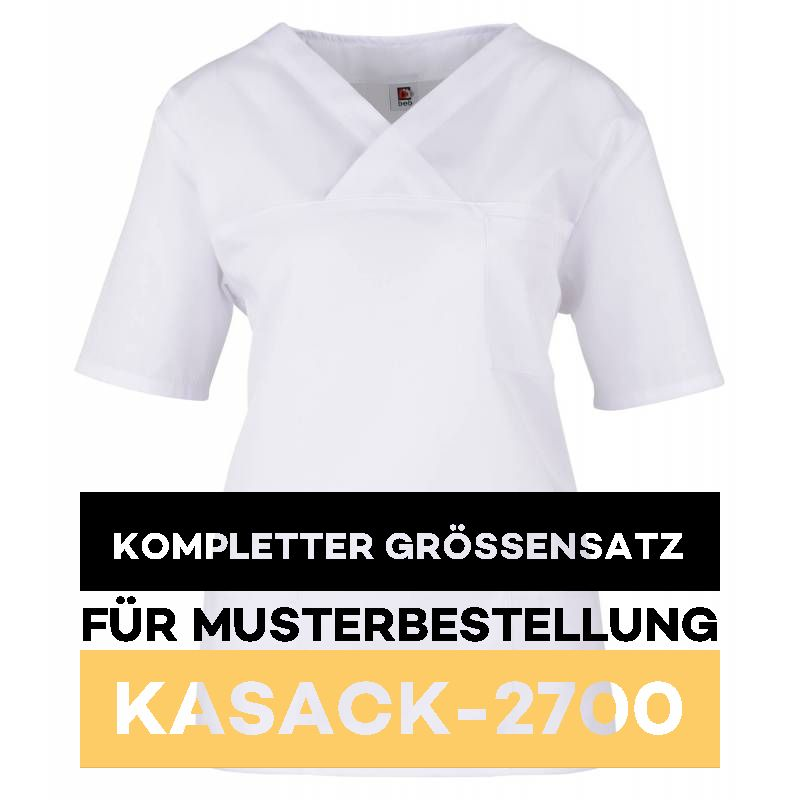 Kompletter Grössensatz - 2700 weiß - MEIN-KASACK.de
