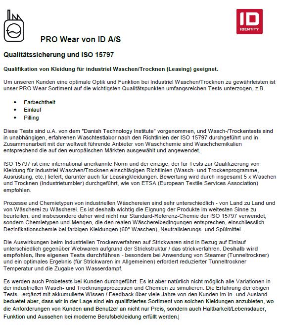 PRO WEAR - ISO 15797