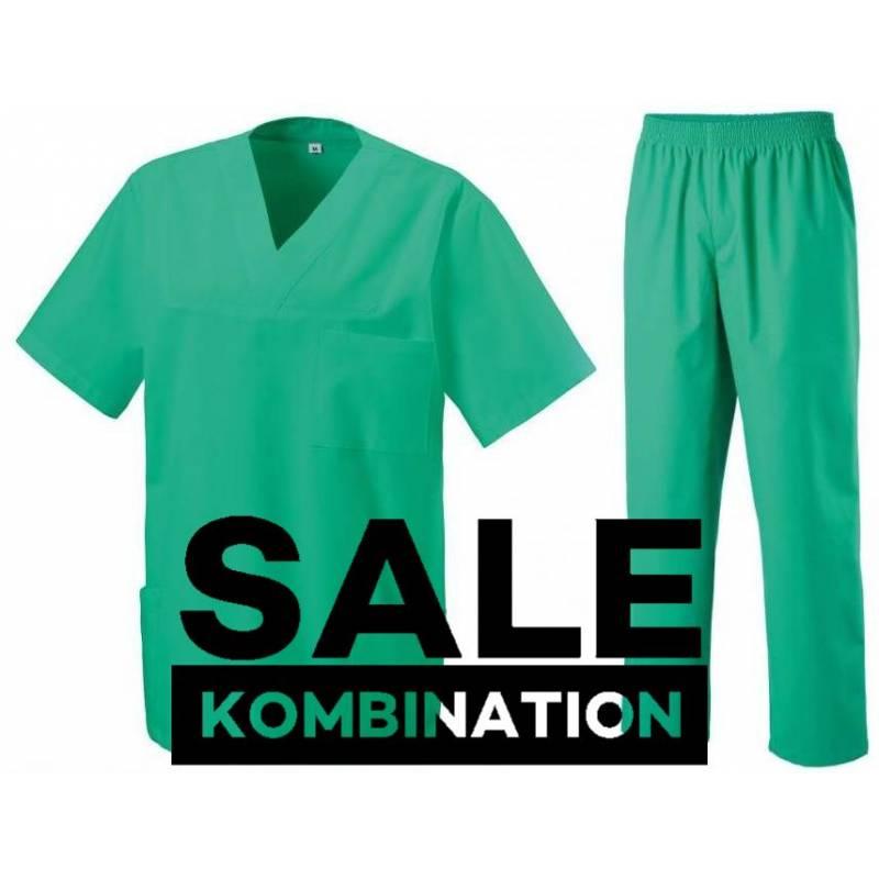 SALE - KOMBINATION AUS KASACK 273 UND SCHLUPFHOSE 330 VON EXNER / FARBE: LIGHT GREEN