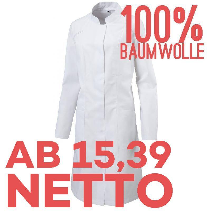DAMENMANTEL / ARZTKITTEL / LABORKITTEL - 290 VON EXNER / FARBE: WEISS / 100% BAUMWOLLE 230