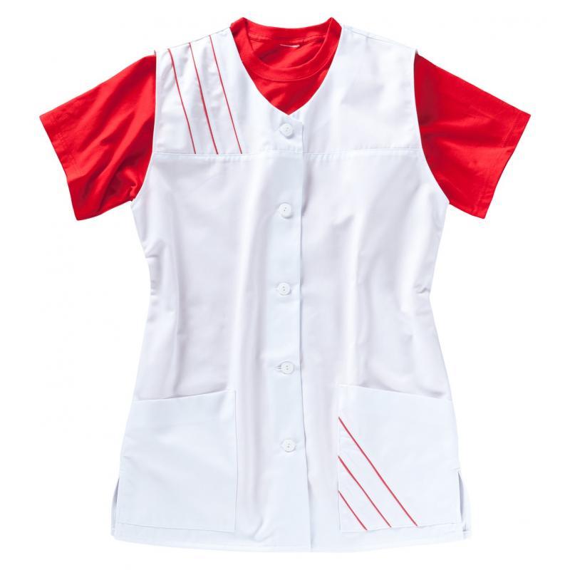 Heute im Angebot: Kasack 396 von BEB / Farbe: Weiß/Strawberry / 65% Polyester, 35% Baumwolle, 210 g/m ² in der Region Berlin Plänterwald