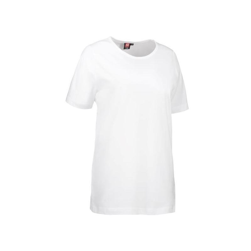 Heute im Angebot: T-TIME Damen T-Shirt 0512 von ID / Farbe: weiß / 100% BAUMWOLLE