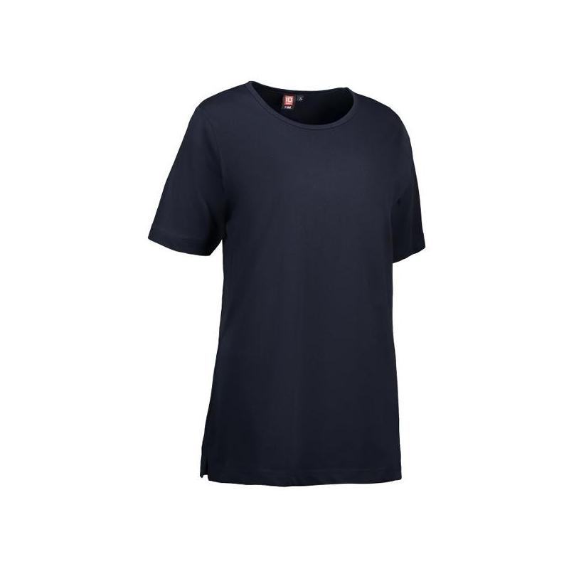 Heute im Angebot: T-TIME Damen T-Shirt 0512 von ID / Farbe: navy / 100% BAUMWOLLE