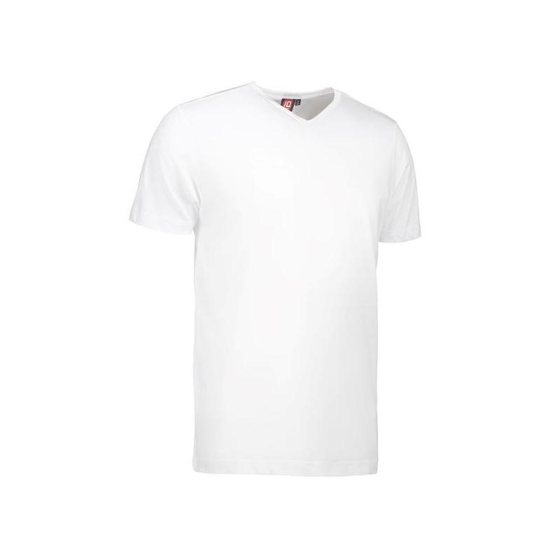 Heute im Angebot: T-TIME ® Herren T-Shirt 0514 von ID / Farbe: weiß / V-Ausschnitt / 100% BAUMWOLLE