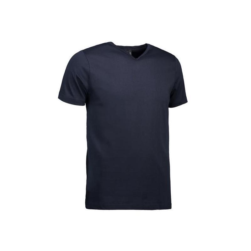 Heute im Angebot: T-TIME ® Herren T-Shirt 0514 von ID / Farbe: navy / V-Ausschnitt / 100% BAUMWOLLE