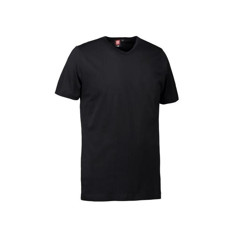 Heute im Angebot: T-TIME ® Herren T-Shirt 0514 von ID / Farbe: schwarz / V-Ausschnitt / 100% BAUMWOLLE