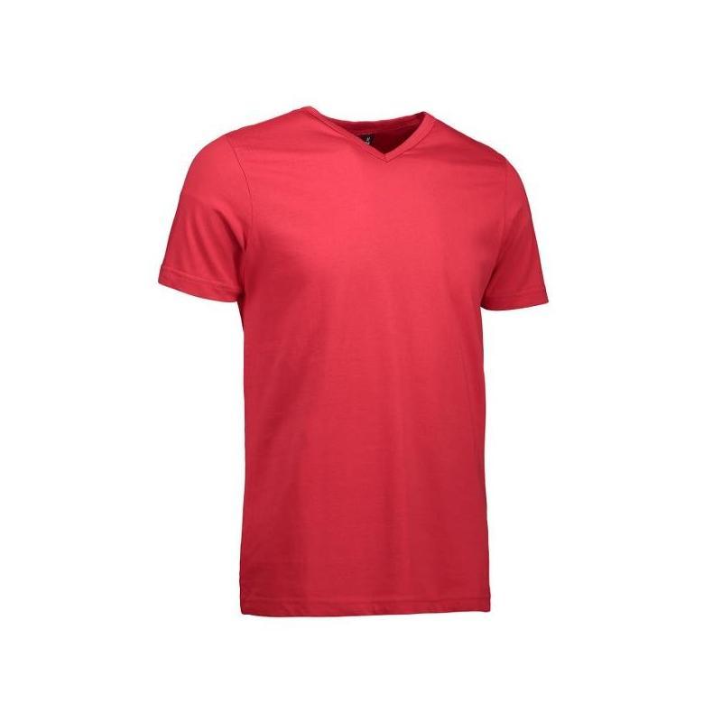 Heute im Angebot: T-TIME ® Herren T-Shirt 0514 von ID / Farbe: rot / V-Ausschnitt / 100% BAUMWOLLE jetzt günstig kaufen