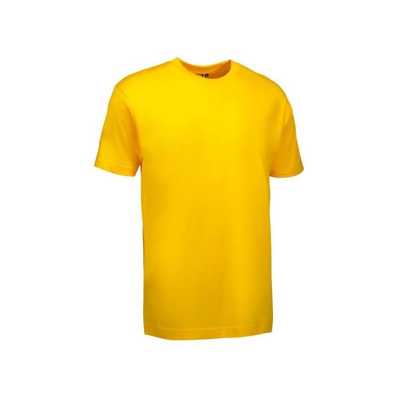 Heute im Angebot: T-Shirt 0500 von ID / Farbe: gelb / 100% BAUMWOLLE