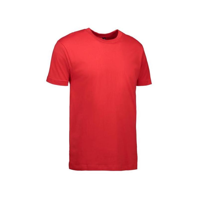 Heute im Angebot: T-Shirt 0500 von ID / Farbe: rot / 100% BAUMWOLLE