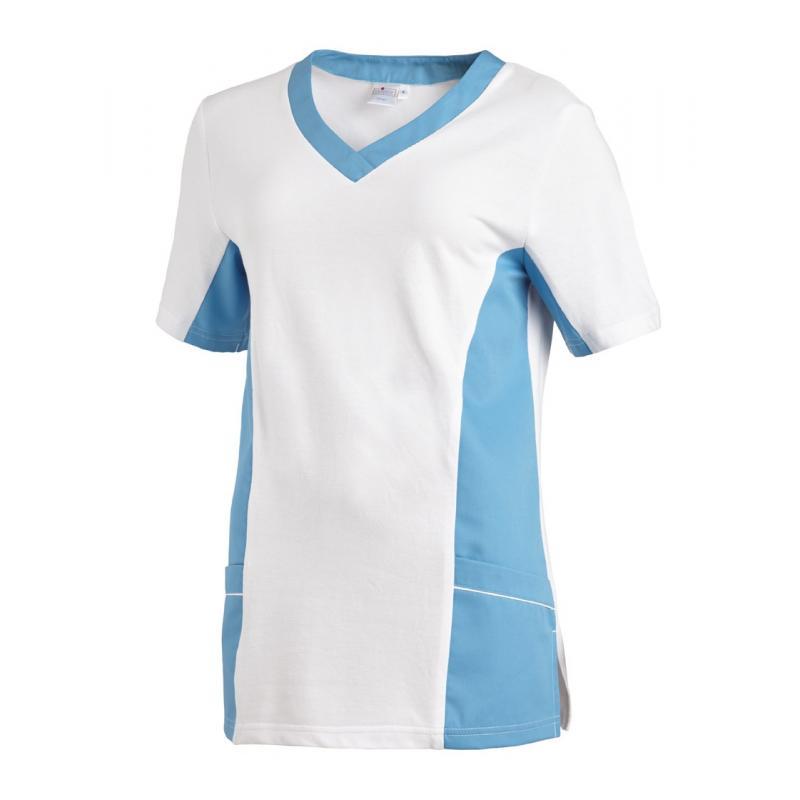 Heute im Angebot: Schlupfjacke 2531 von LEIBER / Farbe: weiß-türkis / 50 % Baumwolle 50 % Polyester in der Region Ludwigslust
