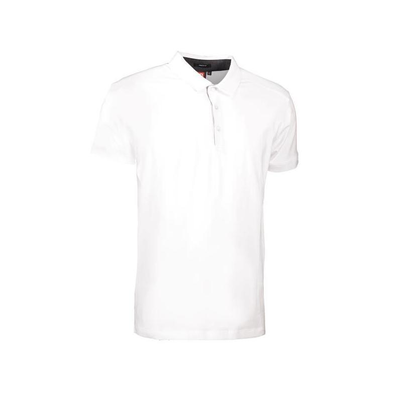 Heute im Angebot: Business Herren Poloshirt | Stretch 534 von ID / Farbe: weiß / 95% BAUMWOLLE 5% ELASTANE