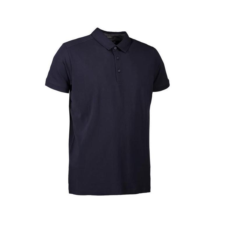 Heute im Angebot: Business Herren Poloshirt | Stretch 534 von ID / Farbe: navy / 95% BAUMWOLLE 5% ELASTANE