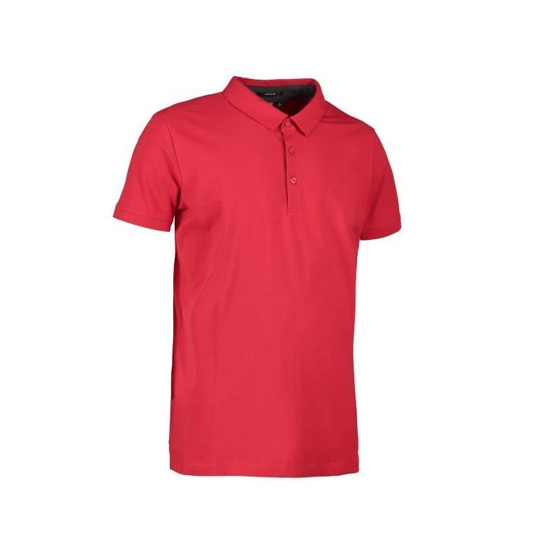 Heute im Angebot: Business Herren Poloshirt | Stretch 534 von ID / Farbe: rot / 95% BAUMWOLLE 5% ELASTANE