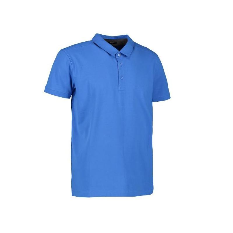 Heute im Angebot: Business Herren Poloshirt | Stretch 534 von ID / Farbe: azur / 95% BAUMWOLLE 5% ELASTANE