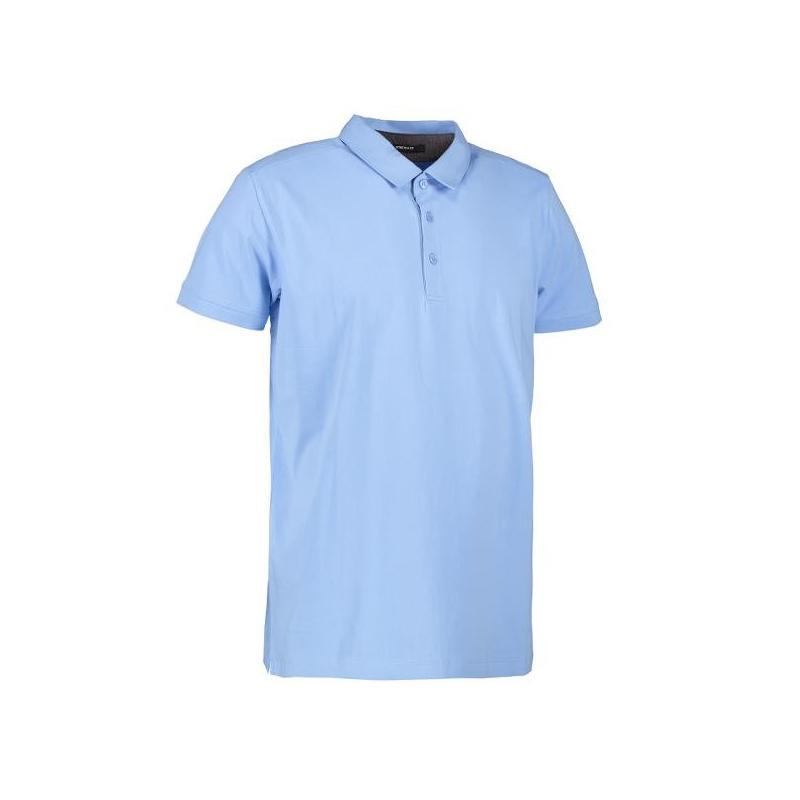 Heute im Angebot: Business Herren Poloshirt | Stretch 534 von ID / Farbe: hellblau / 95% BAUMWOLLE 5% ELASTANE in der Region Wesel