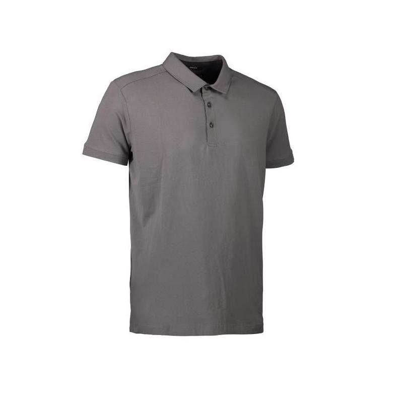 Heute im Angebot: Business Herren Poloshirt | Stretch 534 von ID / Farbe: grau/ 95% BAUMWOLLE 5% ELASTANE in der Region Berlin Karlshorst