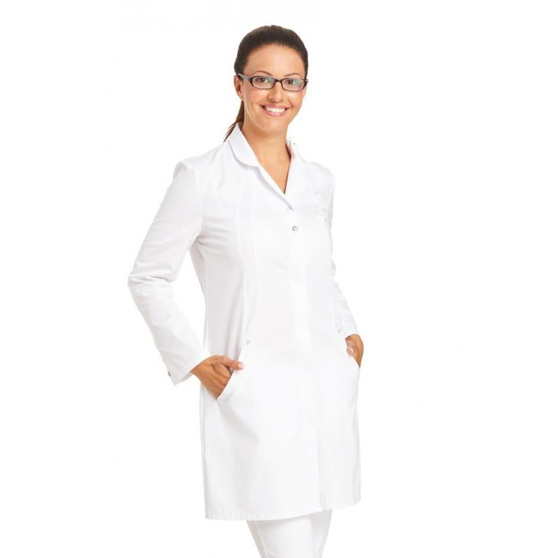 Heute im Angebot: Damenmantel 2559 von LEIBER / Farbe: weiß / 50 % Baumwolle 50 % Polyester