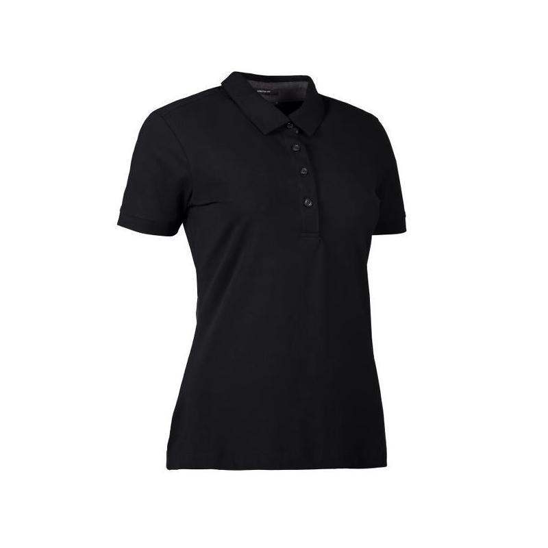 Heute im Angebot: Business Damen Poloshirt | Stretch 535 von ID / Farbe: schwarz / 95% BAUMWOLLE 5% ELASTANE