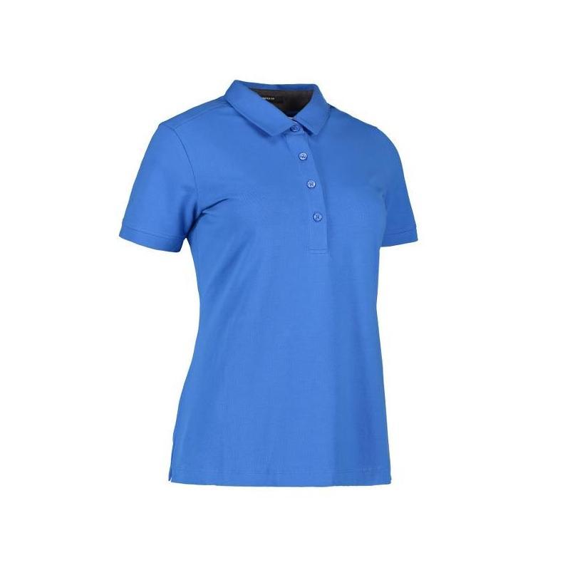 Heute im Angebot: Business Damen Poloshirt | Stretch 535 von ID / Farbe: azur / 95% BAUMWOLLE 5% ELASTANE in der Region kaufen