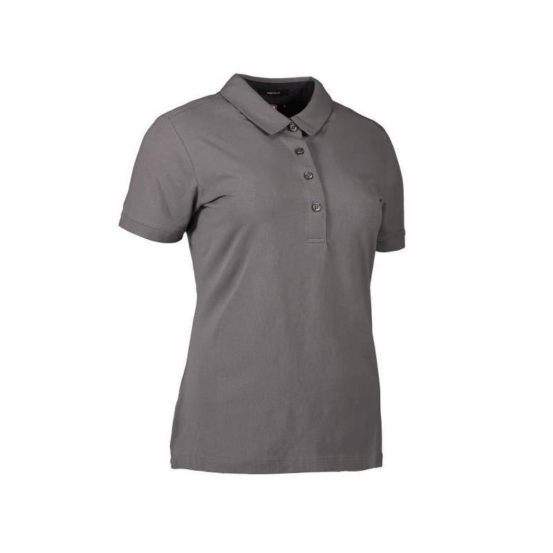 Heute im Angebot: Business Damen Poloshirt | Stretch 535 von ID / Farbe: grau / 95% BAUMWOLLE 5% ELASTANE in der Region Wildau