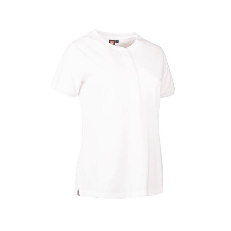 Heute im Angebot: PRO Wear CARE Damen Poloshirt 375 von ID / Farbe: weiß / 50% BAUMWOLLE 50% POLYESTER in der Region Mühlheim