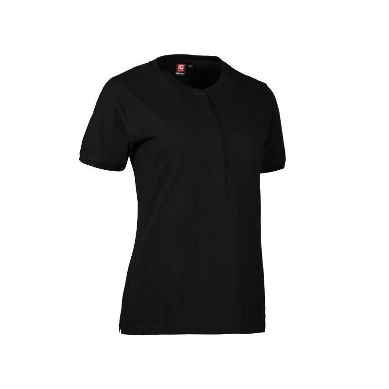 Heute im Angebot: PRO Wear CARE Damen Poloshirt 375 von ID / Farbe: schwarz / 50% BAUMWOLLE 50% POLYESTER in der Region Teltow