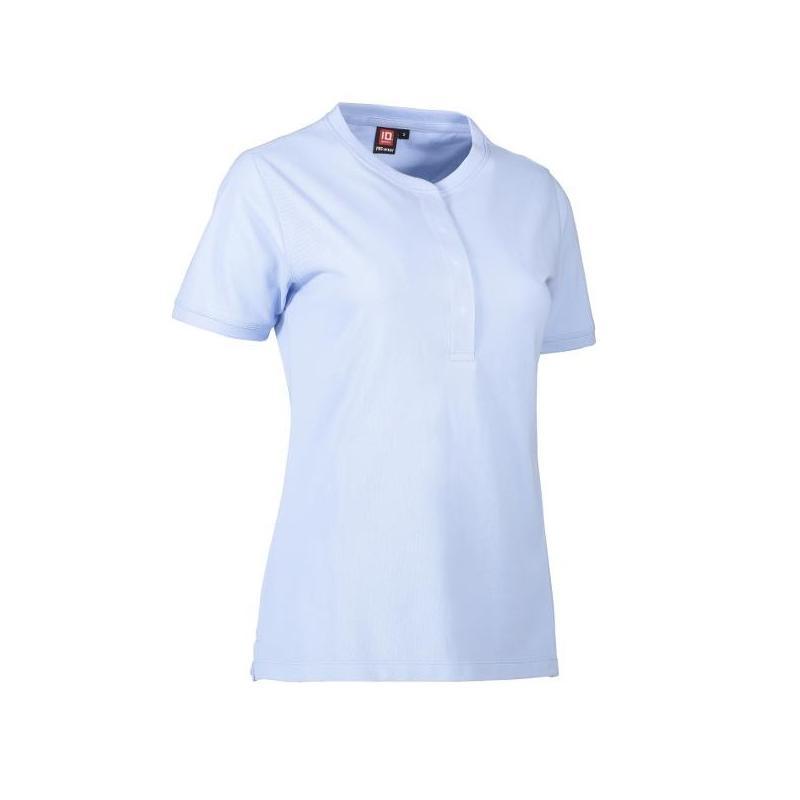 Heute im Angebot: PRO Wear CARE Damen Poloshirt 375 von ID / Farbe: hellblau / 50% BAUMWOLLE 50% POLYESTER in der Region Bad Sarrow