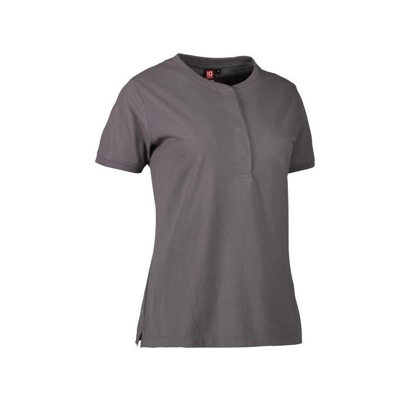 Heute im Angebot: PRO Wear CARE Damen Poloshirt 375 von ID / Farbe: grau / 50% BAUMWOLLE 50% POLYESTER