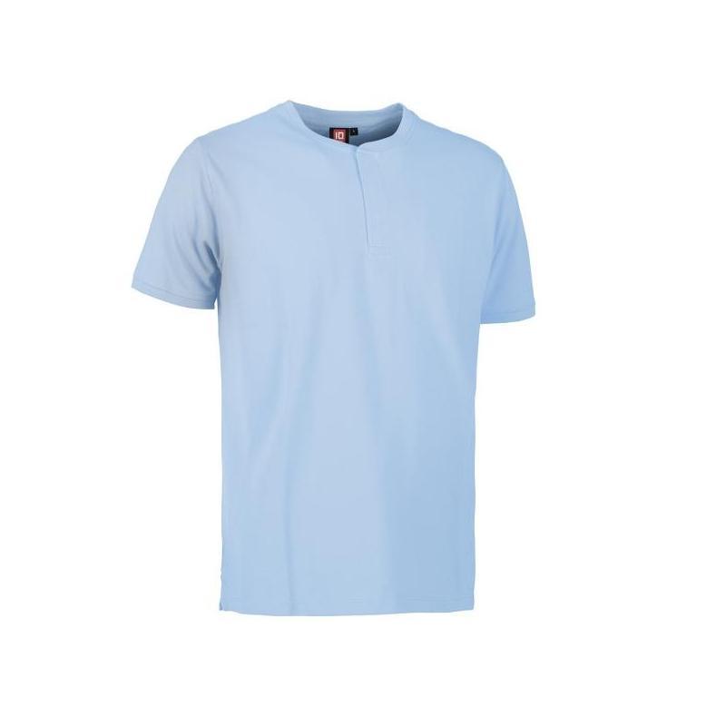Heute im Angebot: PRO Wear CARE Herren Poloshirt 374 von ID / Farbe: hellblau / 50% BAUMWOLLE 50% POLYESTER