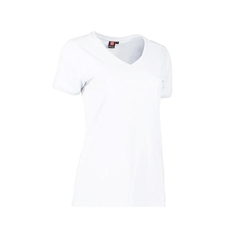 Heute im Angebot: PRO Wear CARE Damen T-Shirt 373 von ID / Farbe: weiß / 60% BAUMWOLLE 40% POLYESTER jetzt günstig kaufen